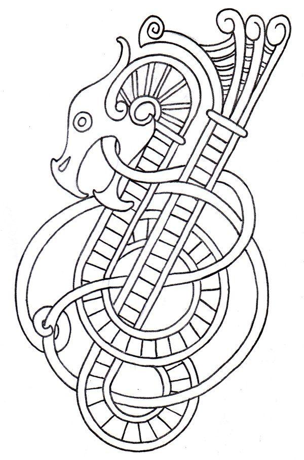 Viking Dragon Outline 2 by ~vikingtattoo on deviantART