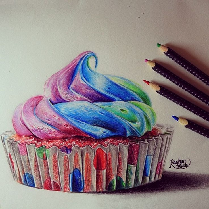 Cupcake. Movie Characters Drawings and More. By Rayhan Miah.