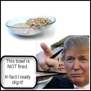 9 best cereal bowl images on pinterest breakfast cereal cereal donald trump starts every day by firing two or three people while he eats breakfast that why he digs this bowl it keeps his cereal crispy in between ccuart Gallery