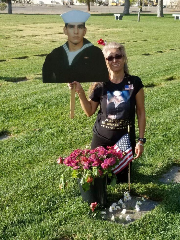 Happy Veteran's Day. Visiting my Fallen HERO son Navy Seal Alexander. R. I. P. Love you forever.