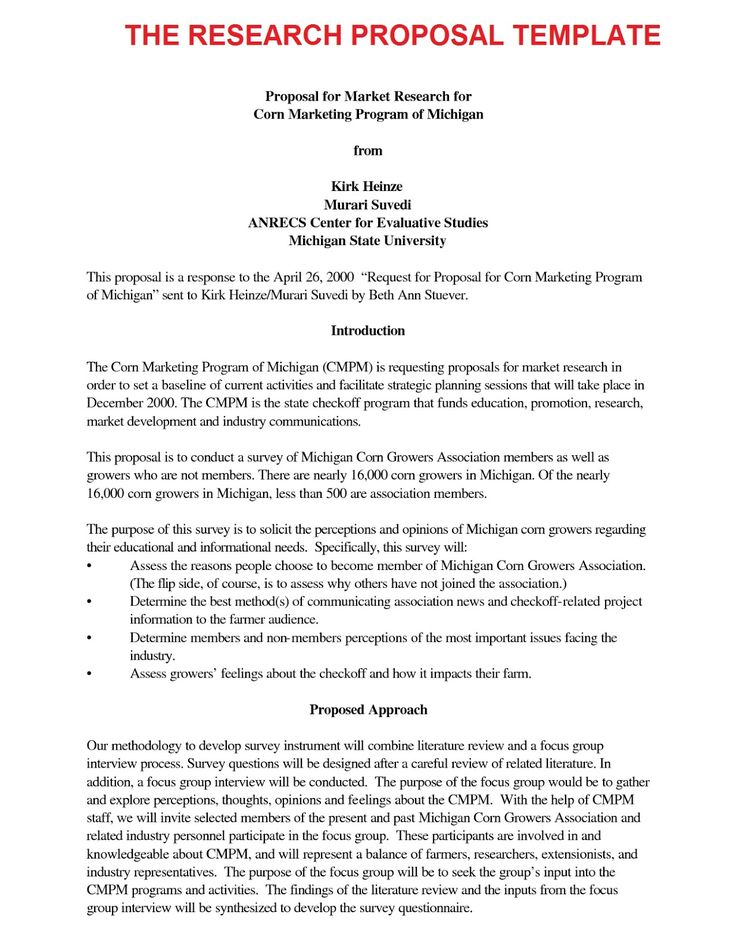 Research Proposal Maker \u2012 Free Download Research Proposal Template