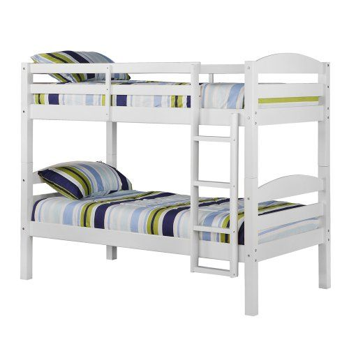 WE Furniture Twin over Twin Solid Wood Bunk Bed, White Walker Edison http://www.amazon.com/dp/B0062F6UTW/ref=cm_sw_r_pi_dp_NBMRtb0AQFB40HNE