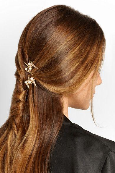 Rosantica | Contrasti gold-tone faux pearl hair slides | NET-A-PORTER.COM