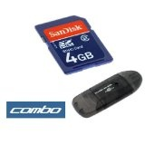 Sandisk 4gb Sdhc Sd Memory Card with Adapter + Black USB Memory Card Reader for Canon Powershot Digital Camera (Electronics)By Bargaincell