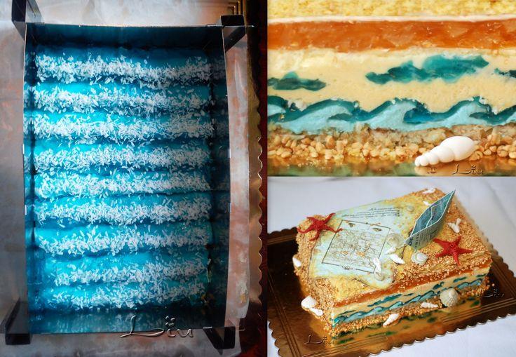 торт Голубые Гавайи