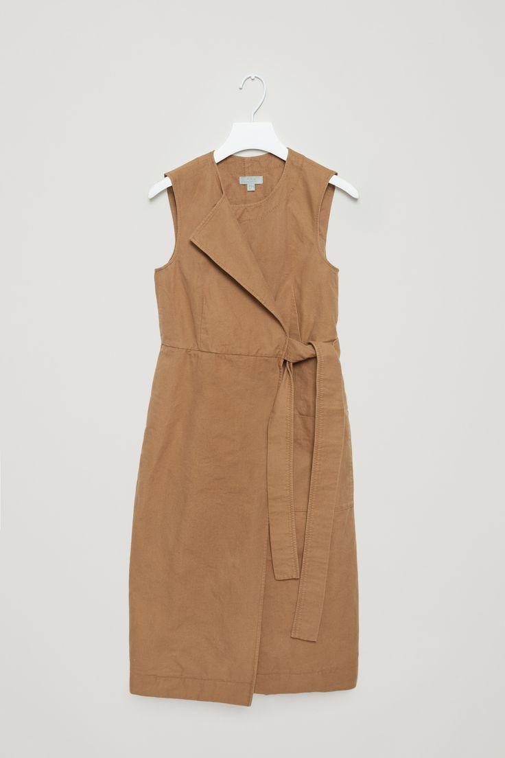 COS | Wrap-over canvas dress