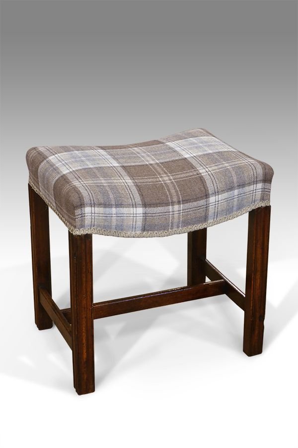 Home, Furniture & Diy Victorian Upholstered Foot Stool On Bun Feet High Quality And Inexpensive