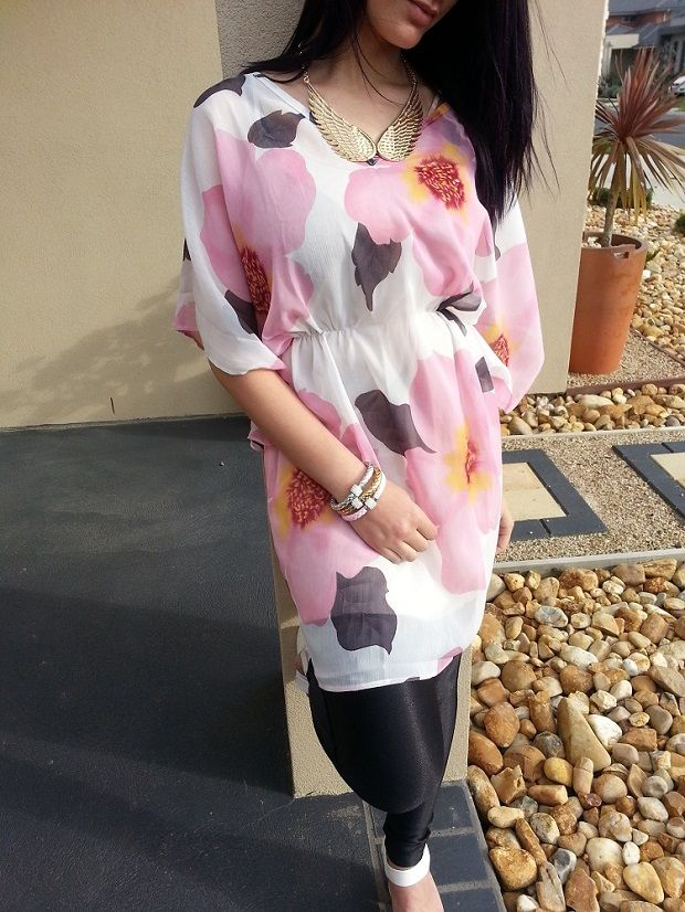 Floral Mini – Tunic Dress Not Many left! AU$39.95 Free Shipping Within Australia