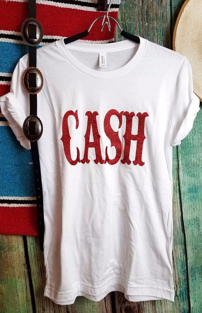 COWGIRL gYPSY JOHNNY CASH Rodeo WHITE TEE Shirt Country Western UNISEX XL #BAHARANCHWESTERNWEAR #TSHIRT
