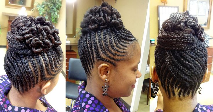 Braided Updo Styles For Natural Hair: Natural Hair & Braid Styles