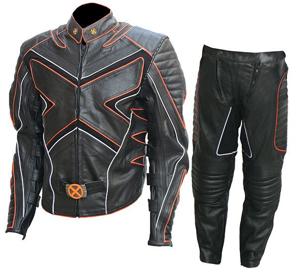 X-Men Wolverine Motorcycle Leather Costume