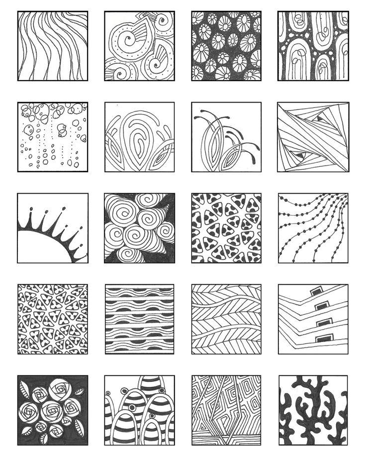 9 besten zentangle patterns bilder auf pinterest for Innendesign schule