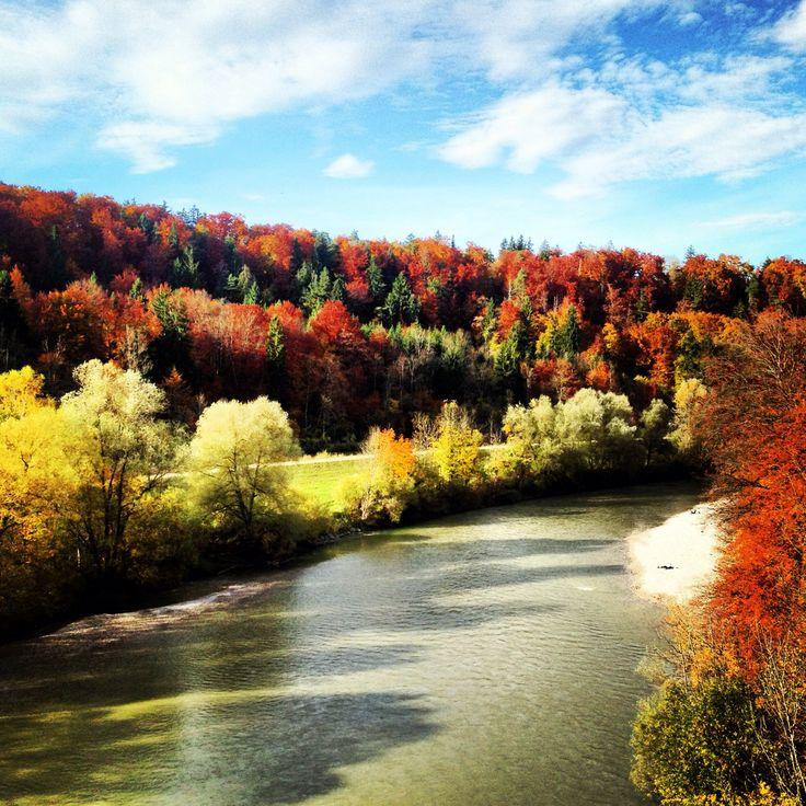 Isar in autumn