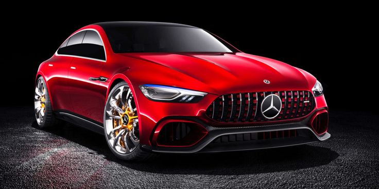 The Most Lust-Worthy Cars Unveiled at the Geneva Motor Show | The Mercedes-AMG Concept GT shows how to put the super in Super Coupe. Four doors, but 0-60 mph in less than three seconds.  | Credit: Daimler AG | From Wired.com