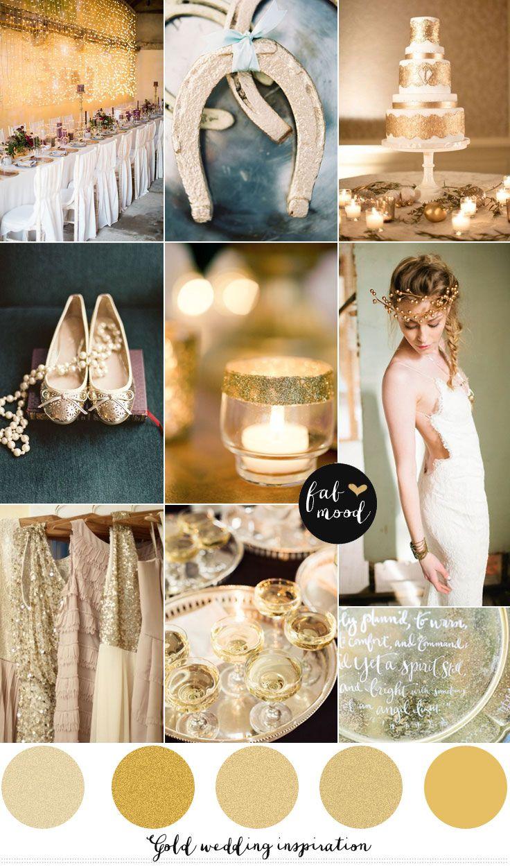 Neutral   Gold wedding inspiration | http://www.fabmood.com/gold-wedding-inspiration/