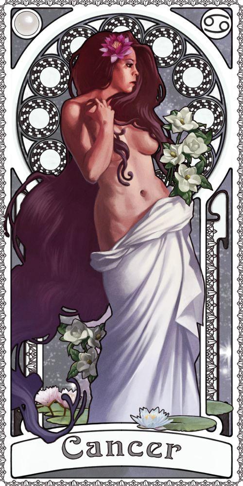 O #zodíaco como cartas de #tarô: #câncer > Zodiac Art Show - Cancer by…
