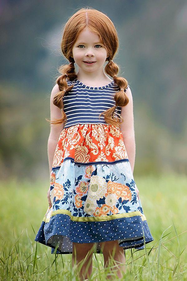 Persnickety Della Dress For Girls Alpine Daisy Preorder