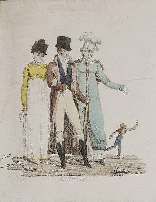 Unknown Publication, 1810,  From the Bibliothèque des Arts Décoratifs via SceneInThePast flickr. #menswear