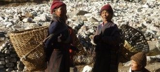 Local women in Samagaun in Manaslu Photo Tour.