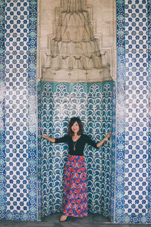 The Iznik blue tiles of the interiors walls of Topkapı Palace in Istanbul #flytographer.com/vacation-photographers