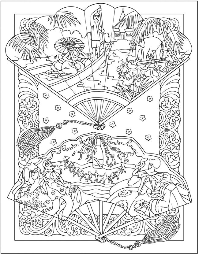 welcome to dover publications creative haven vintage hand fans coloring book marty noble - Dover Coloring Books For Adults