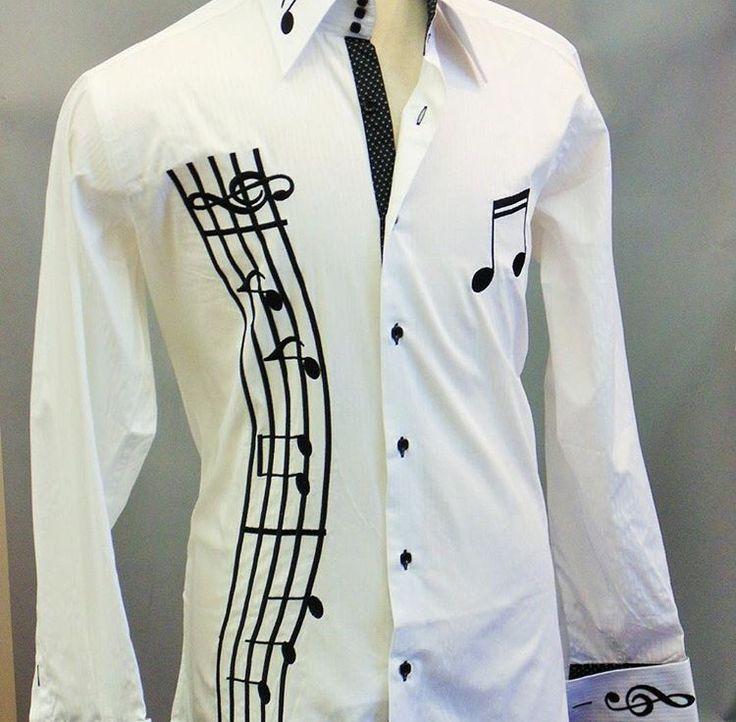 Camisa inspirada en la música, genial