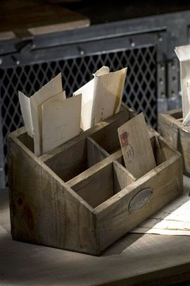 Recycled Pine Letter Box by Vagabond Vintage