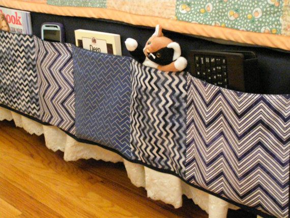 Bedside Caddy for Teens Older Children Adults by TheScrapBasket