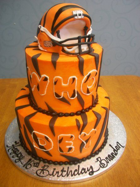 Bengals Football Who Dey Birthday Cake Custom Cakes We