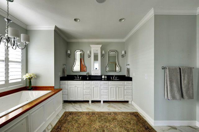 Create an elegant bathroom d cor with sea salt sw 6204 for Elegant bathroom colors