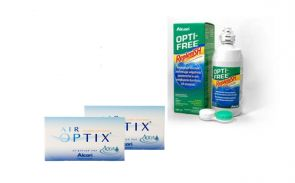 2 x AIR OPTIX™ Aqua 6 Stk. + OPTI-FREE™ Replenish 300 ml