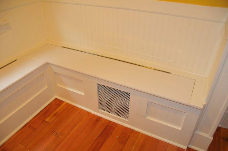 Diy custom kitchen nook storage benches impatiently for Corner bench with storage ikea