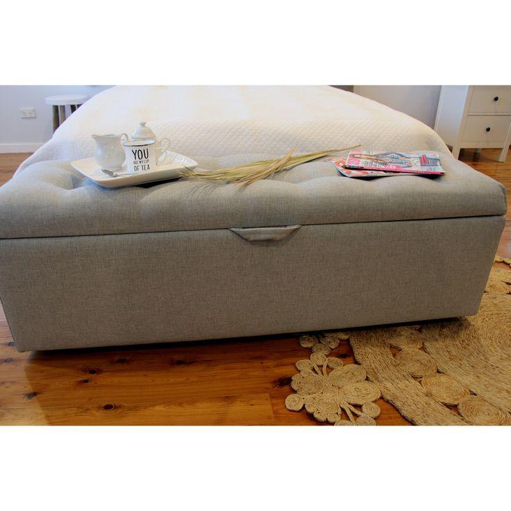 Upholstered Custom Made Blanket Box.