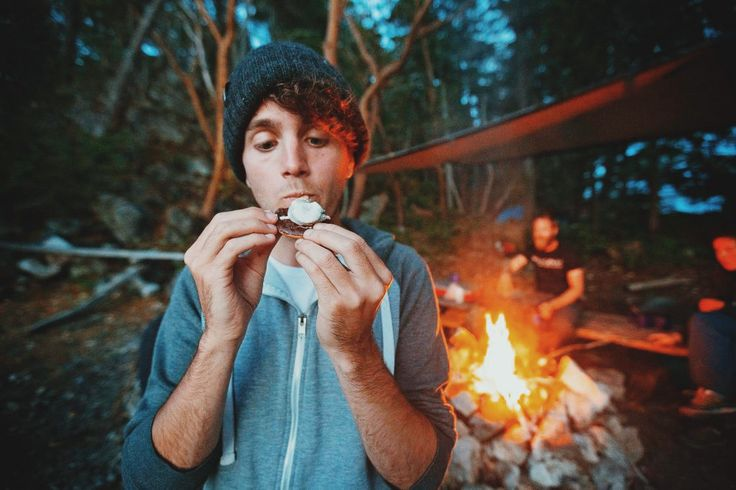 Camping in desolation sound. S'mores are a must have!