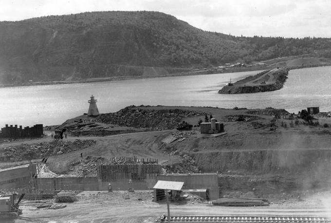 Construction of the Canso Causeway_Cape Breton_Nova Scotia | Old Photos and Memories of Cape Breton, Nova Scotia