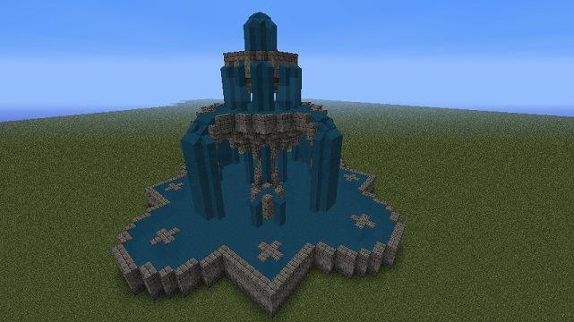 minecraft fountain idea