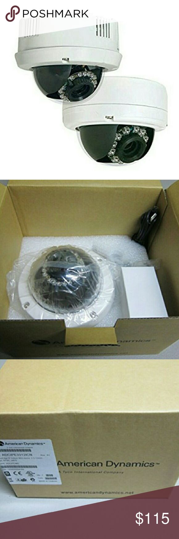 """VideoEdge IP Indor Mini Dome Camera w/pwr suply NWT VideoEdge IP Indoor Mini Dome 3.3-12mm clear NTSC w/power supply fixed camera Its Economical High Quality & Resolution day/night Onboard SD card storage Interface  w/Vandal resistant housing D1 resolution Audio Auto Gain Control Motion Detection Tracking Supports MJPEG/MPEG-4 Compression Technologies Multiple User Access 8 Simultaneous Users Access Security w/Multiple Authority levels IP Address Filtering PAL/NTSC 1/3"""" Sony Super HAD CCD…"""