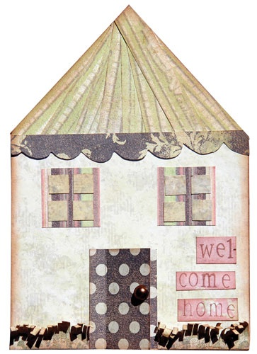 Timeless Travel Card - Welcome Home - FabScraps