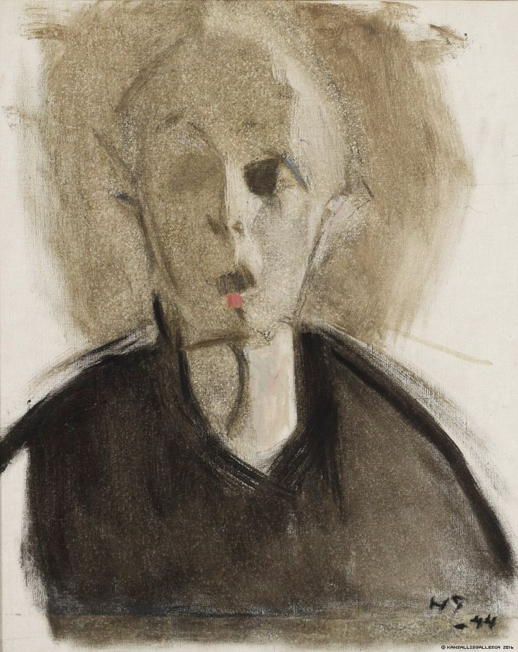 Helene Schjerfbeck (Finnish 1862 – 1946), Self-Self-Portrait with Red Spot,* oil/canvas, 1944. Collection Finnish National Gallery, Helsinki.