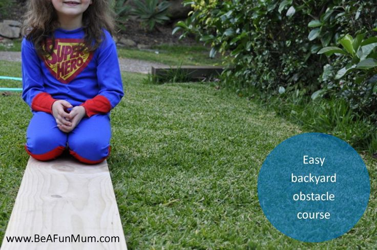 Easy backyard obstacle course #outdoors #fun #kids #backyard