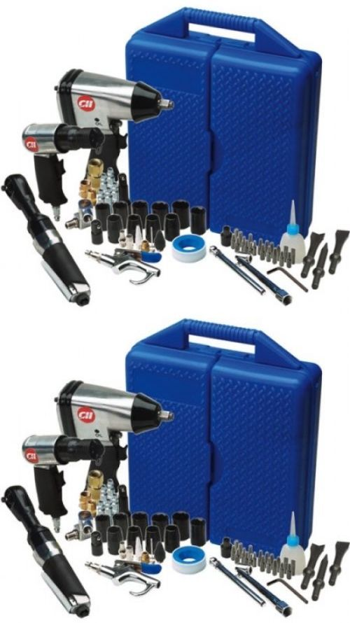 Air Tool Kits Sets 159927: Campbell Hausfeld 62 Piece Air Tool Combo Kit W Impact Wrench Air Hammer Rachet -> BUY IT NOW ONLY: $136.45 on eBay!