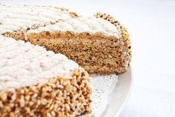 Solothurner Torte -  famous hazelnut torte from Solothurn, Switzerland