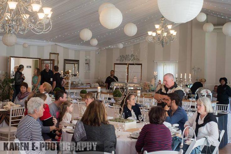All the brides to be with their families enjoying the Open Day - photo by Karen Edwards @karenephotos