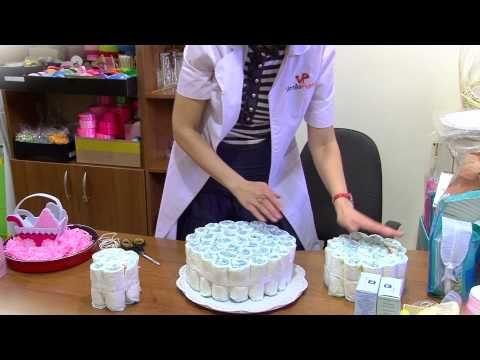 Мастер-класс. Торт из памперсов - YouTube