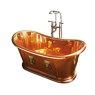 Beautiful solid copper bathtub, for the 1%. $69,695.00. Crazy.