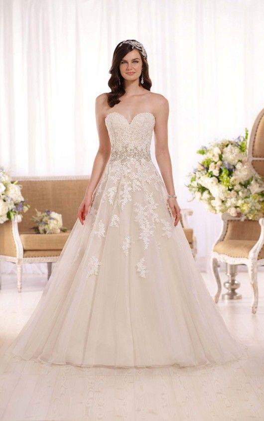 New at Uptown Bridal! Uptown Bridal & Boutique www.uptownbrides.com D2000 A-Line Wedding Dress by Essense of Australia