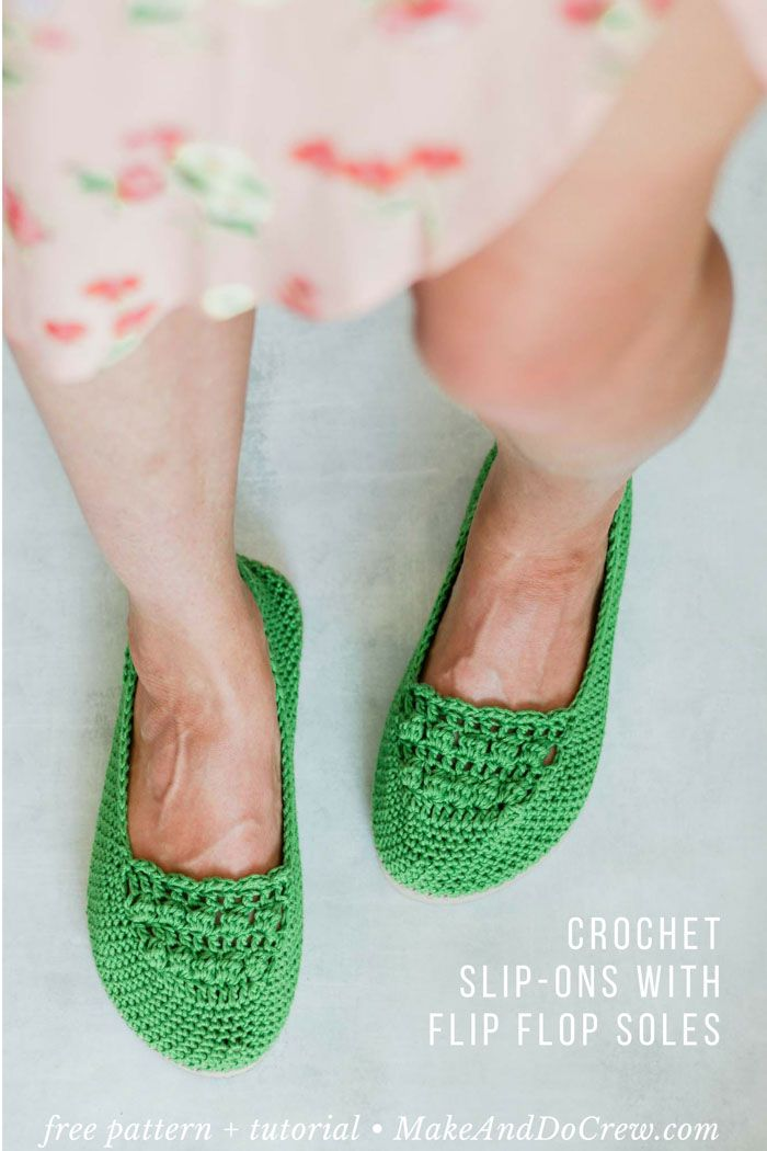 8c5ea7e3c90bad Learn how to crochet shoes with flip flop soles in this easy free crochet  pattern and tutorial. Because of their flip flop soles