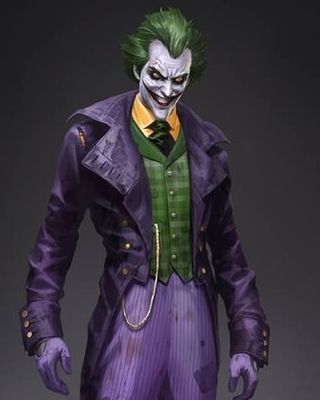 The Joker is one of the great villains in comic book history, and I love  how he's been portrayed in these Batman: Arkham games. This set of concept  art was created by conceptual illustrator, Wesley Burt, who also worked on  Thor, and they were created for the video game Batman: Arkham Origins.