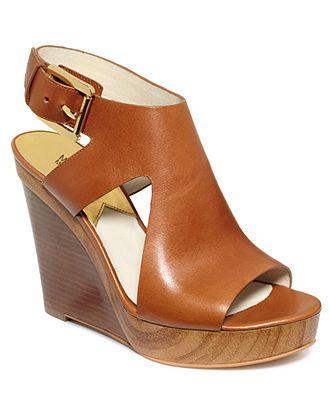 MICHAEL Michael Kors Shoes, Josephine Platform Wedge Sandals - Shoes - Macys