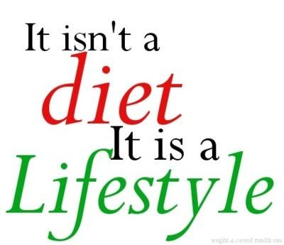 It isn't a diet, It is a lifestyle.